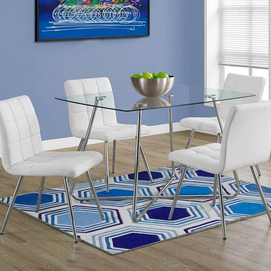 Monarch Specialties Inc. Chrome Dining Table