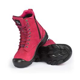 Pilote & Filles Women's Steel Toe Work Boot - Raspberry