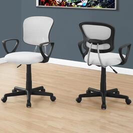 Monarch Specialties White Mid-Back Juvenile Office Chair