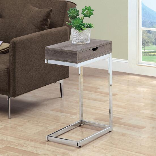 Monarch Specialties Inc. Chrome Metal Accent Table