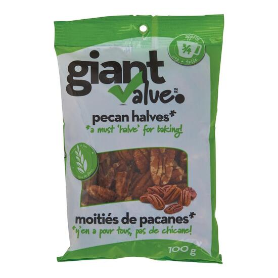 Giant Value Pecan Halves - 100g