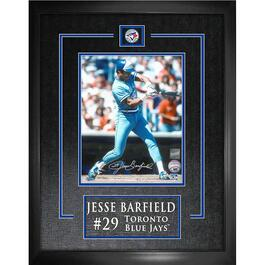 Jesse Barfield Signed Toronto Blue Jays Laser Engraved Framed Photo - 18in.x22in.