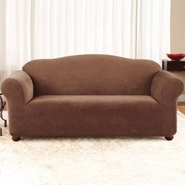 Surefit Stretch Piqué - Chocolate Slipcover for Sofa -1pc.