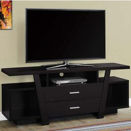 Monarch Specialties TV Stand- Cappuccino with Storage Drawers - 60in.