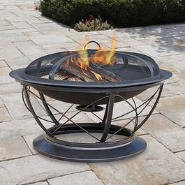Pleasant Hearth Palmetto Fire Pit with Cooking Grid