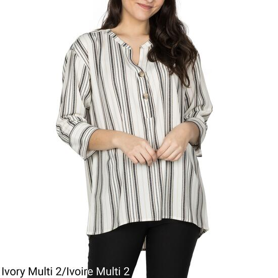lily morgan Women's High-Low Popover Blouse - S-XL