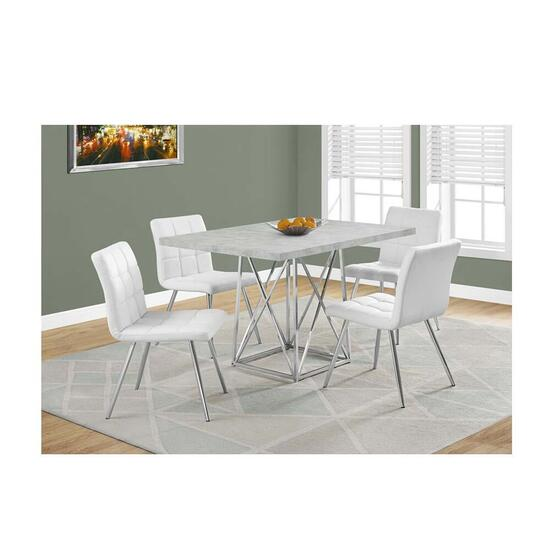 Monarch Specialties Dining Table- Grey Cement - 36 in. x 48 in.