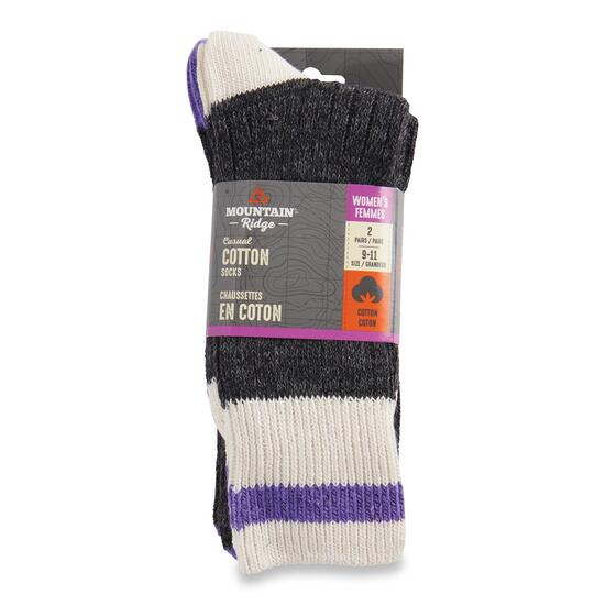 Mountain Ridge Women's Marled Crew Socks 2pk. - 9-11