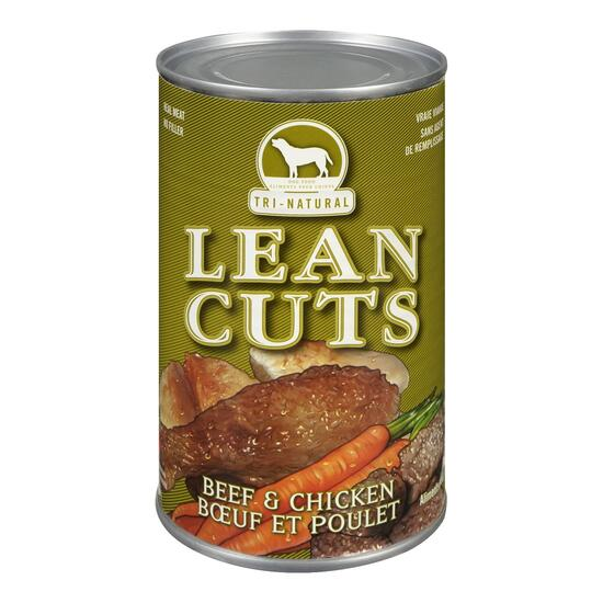 Tri-Natural Lean Cuts Beef and Chicken Canned Dog Food - 680g