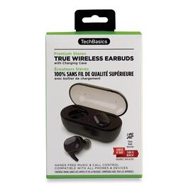Tech Basics Premium Stereo True Wireless Earbuds with Charging Case