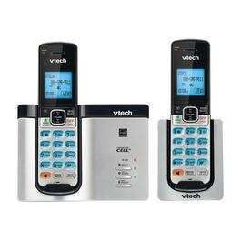 VTech 2-Handset Bluetooth Cordless Phone with Mobile Notifications - Silver
