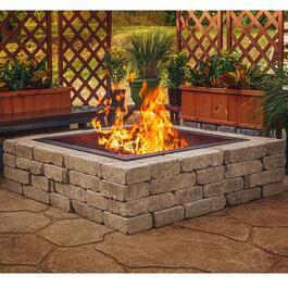 Pleasant Hearth Solid Steel Square Fire Ring