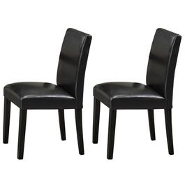 Titus Contemporary Espresso Bonded Leather Dining Chairs - 2pc.