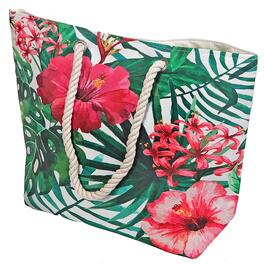 Beach Bag with Rope Handle - Hibiscus