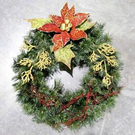 Henryka Decorated Wreath with Flowers - 30in.