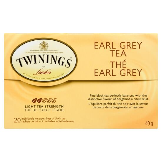 Twinings of London Earl Grey Tea - 20pk.