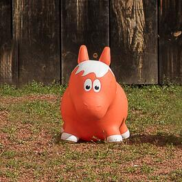 Farm Hoppers Inflatable Horse Bouncer - Orange