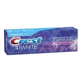 Crest 3D White Radiant Mint Toothpaste - 75ml
