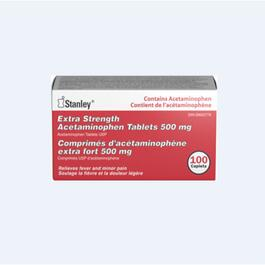 Stanley Acetaminophen 500 mg  - 100 Tablets