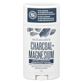 Schmidt's Charcoal and Magnesium Natural Deodorant - 75g