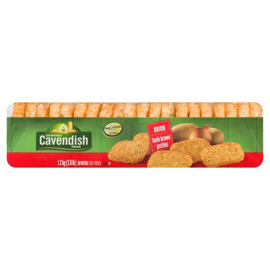 Cavendish Farms Onion Hash Brown Patties pk20 - 1.2kg