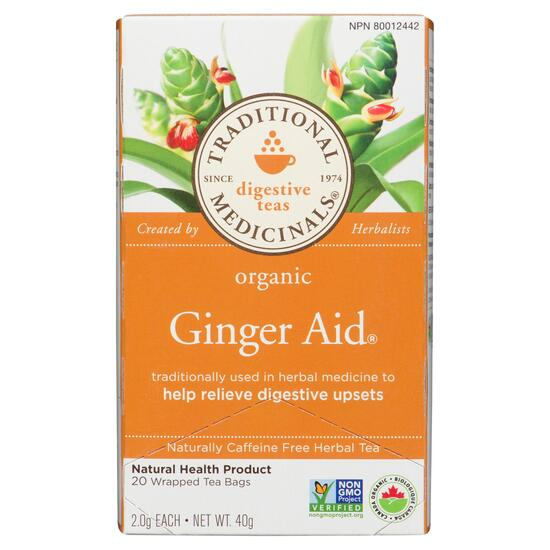 Traditional Medicinals Organic Ginger Aid Tea - 20pk.