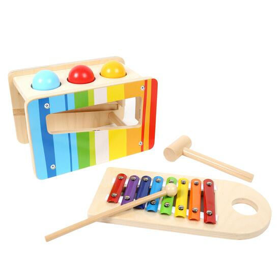 Tooky Toy Wooden Pound and Tap Bench - 7pc.