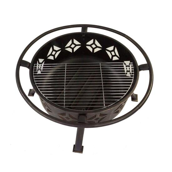 Pleasant Hearth Sunderland Deep Bowl Fire Pit - 12 in.