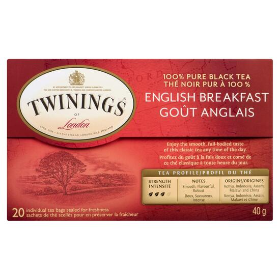 Twinings of London English Breakfast Tea - 20pk.