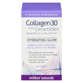 Webber Naturals Collagen30 with Ceramides Bioactive Collagen Peptides - 120 Tablets
