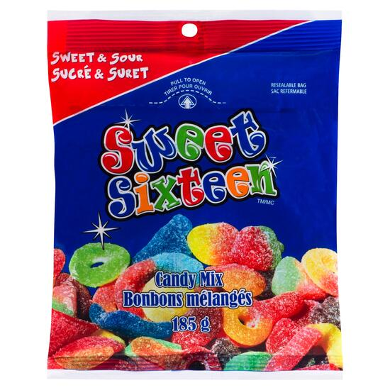 Mondoux Sweet and Sour Sweet Sixteen Candy Mix - 185g
