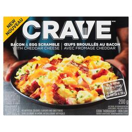 Crave Bacon and Egg Scramble with Cheddar Cheese - 200g