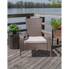 Patioflare Comfort Height Brown Wicker Muskoka Chair