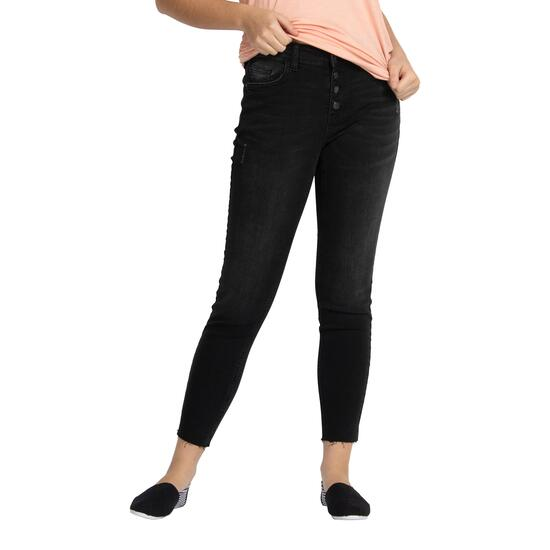 mySTYLE Women's Button Fly Skinny Jeans - 4-14