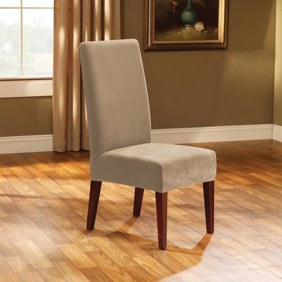 Surefit Stretch Piqué Cream Slipcover for Dining Chair