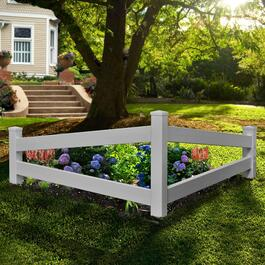 New England Arbors Split Rail Corner Fence