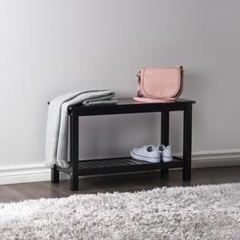 Gracie Black Shoe Storage Bench