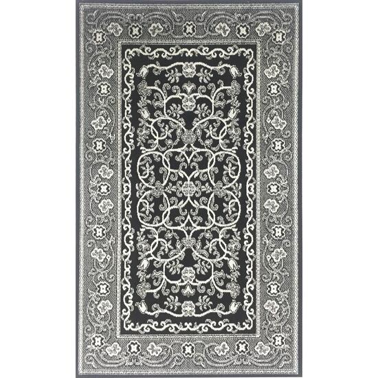 Avocado Décor Black Artificial Silk Heritage Rug - 4.6ft. x 6.6ft.
