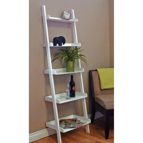 nexxt Hadfield 5-Tier Leaning Shelf - White
