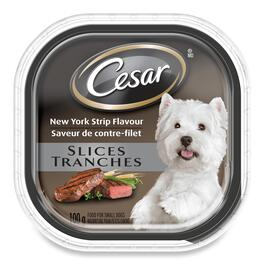 Cesar Slices: New York Strip Flavor for Small Dogs - 100g