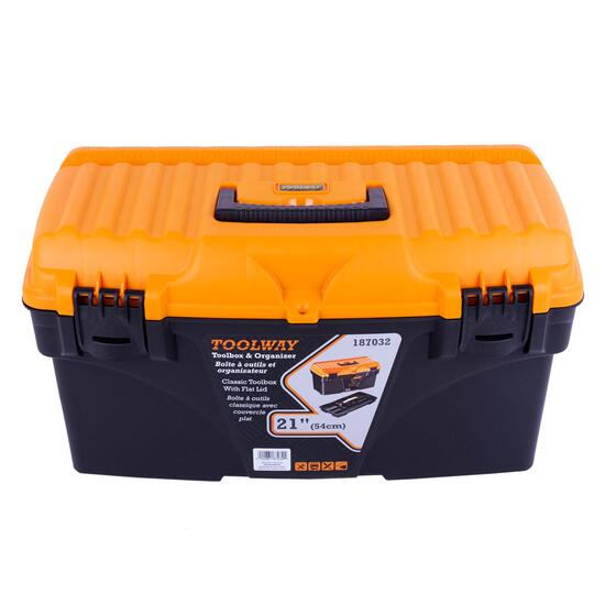 Toolway Classic Toolbox with Flat Lid - 21in.