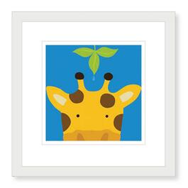 Peek-a-Boo Giraffe Framed Print - 19in.