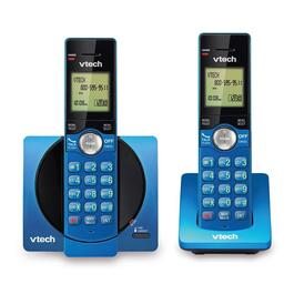 VTech 2-Handset DECT 6.0 Cordless Phones with Caller ID/Call Waiting - Blue