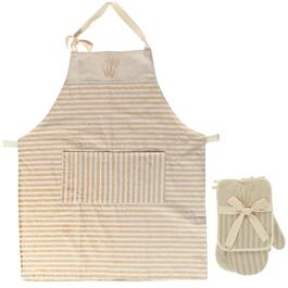 IH Casadécor Kitchen Gift Set with Apron - Taupe Striped