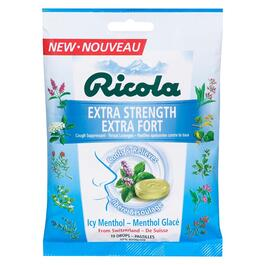 Ricola Extra Strength Icy Menthol Throat Lozenges - 75g