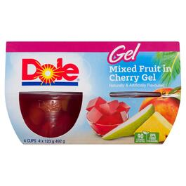 Dole Mixed Fruit in Cherry Gel 4pk. - 492g