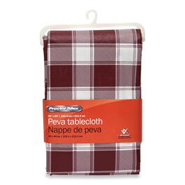 Procter Silex PEVA Printed Checkered Tablecloth - 84in.