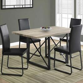 Monarch Specialties Dining Table- Dark Taupe -  36 in. x 60 in.