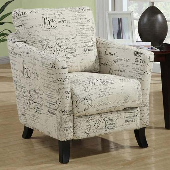 Monarch Specialties Accent Chair in Vintage French Beige Fabric