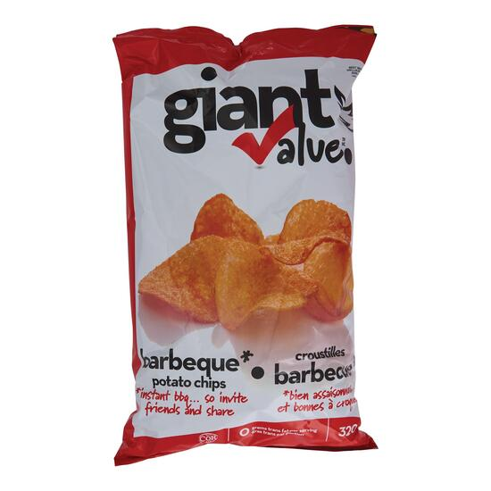 Giant Value Barbeque Potato Chips - 320g
